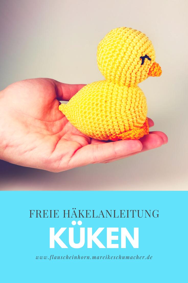 Kleines Küken häkeln – Flauscheinhorn #irishlacecrochetpattern