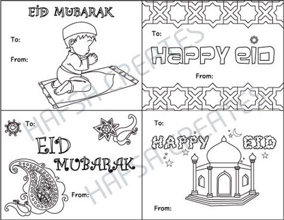 photograph regarding Eid Cards Printable known as Satisfied Eid Mubarak Printable coloring playing cards, Electronic History