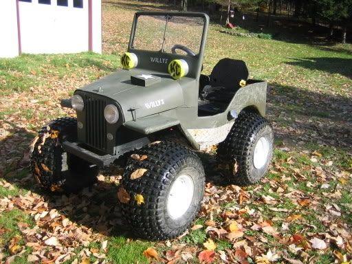 Jeep Replica Modified Lawn Mower Riding Lawn Mowers