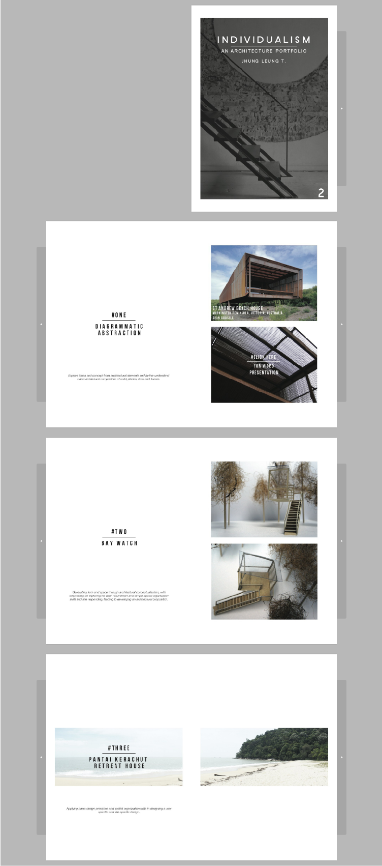Architecture portfolio by Jhung Leung It features
