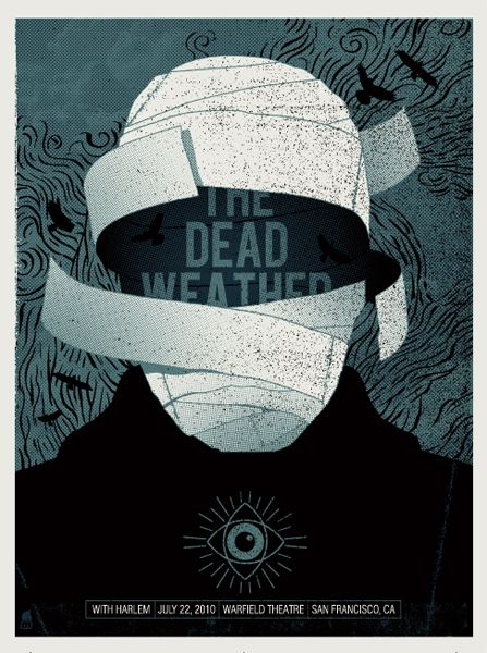 The Dead Weather - gig poster