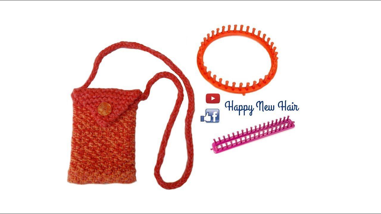 Tricotin - Petit sac pochette / Point de blé I Loom Knitting ...
