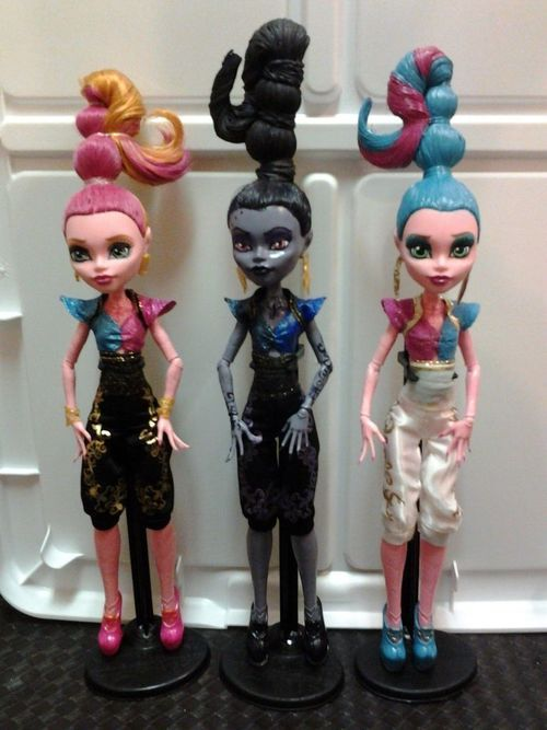 Monster high gigi dolls custom ooak cam monster high - Poupee monster high 13 souhaits ...