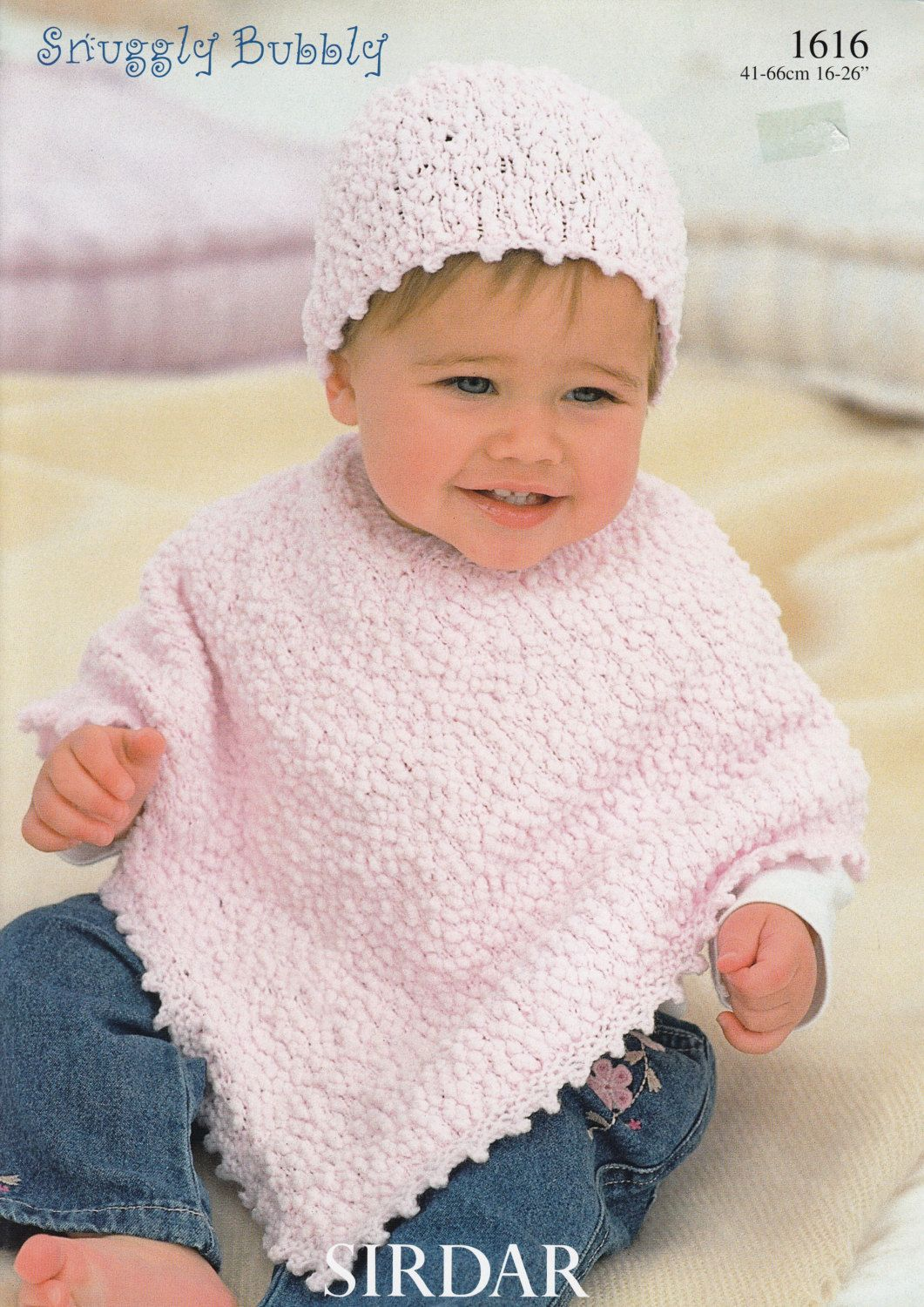 Baby Poncho Knitting Pattern - Sirdar Snuggly Bubbly #1616 Baby ...