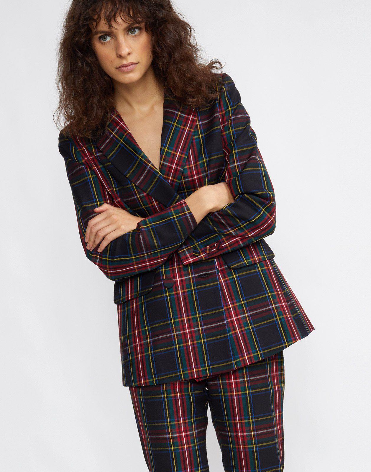 26ade71224 Ridley Plaid Wool Blazer in 2019