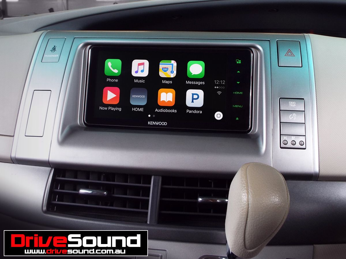 Toyota Tarago with Apple CarPlay installed by DriveSound