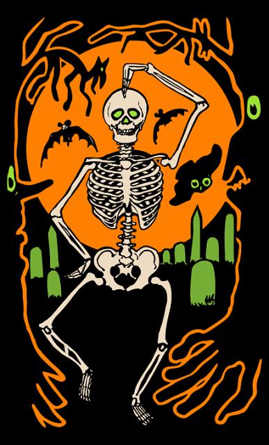 Spookshows Com Blog Skeleton Dance Diecut Vintage Halloween Halloween Images Halloween Pictures