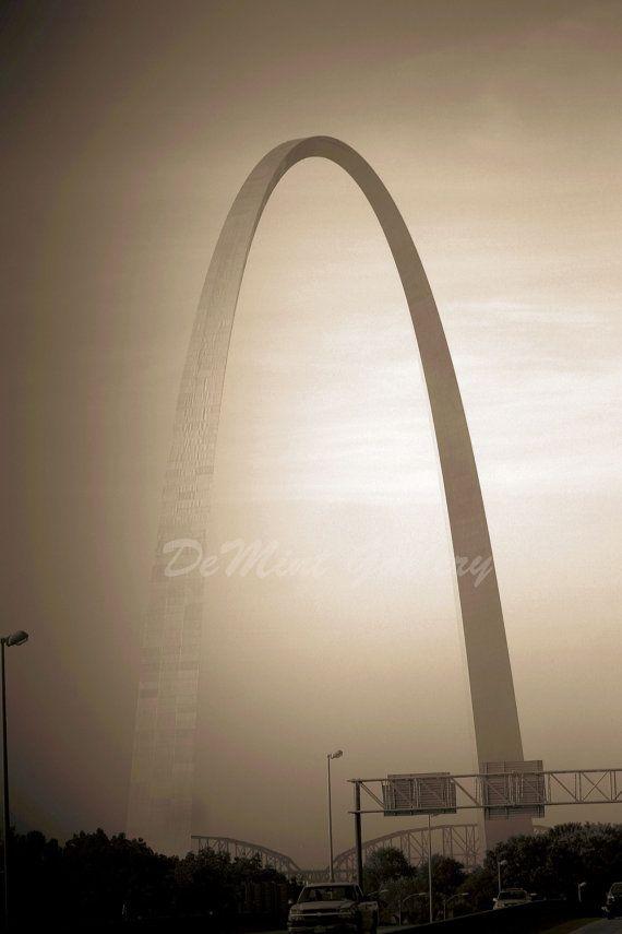 Gateway Arch Landscape Print K/AGED06 by DeMintGallery on Etsy
