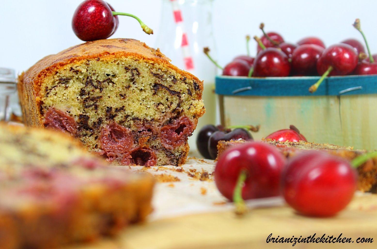 Cake aux Cerises Griottes & Pépites de Chocolat