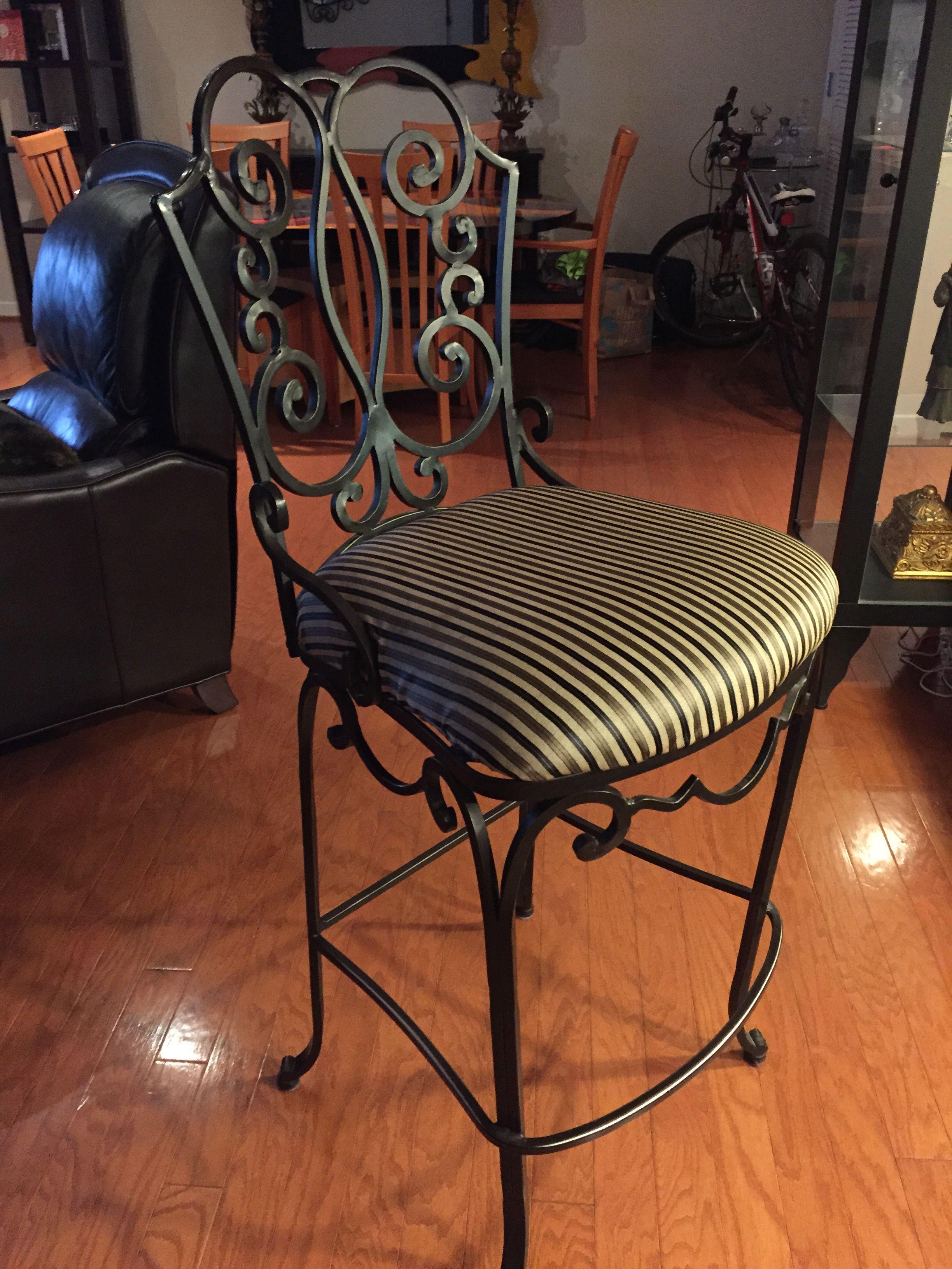Wrought iron bar stool (2)   Redecorate PH   Pinterest ...