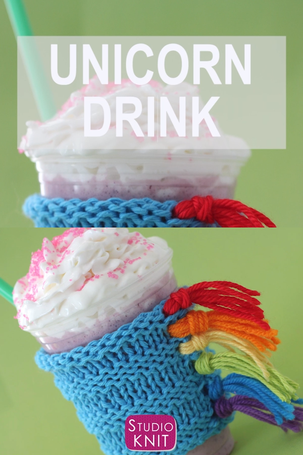 Photo of How to Knit a Unicorn Drink Cozy Pattern
