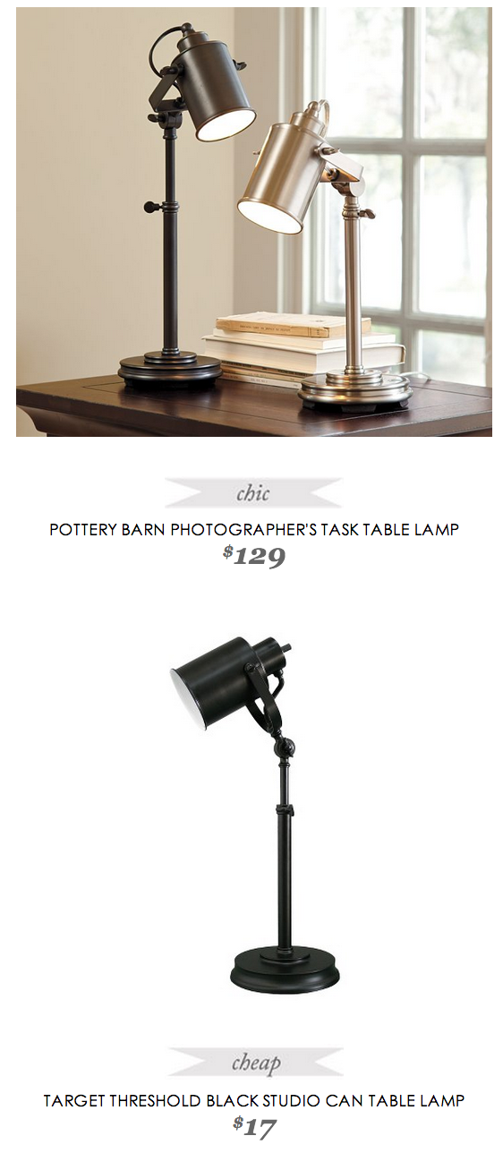 Pottery Barn Photographer's Task Table Lamp | Table lamp ...