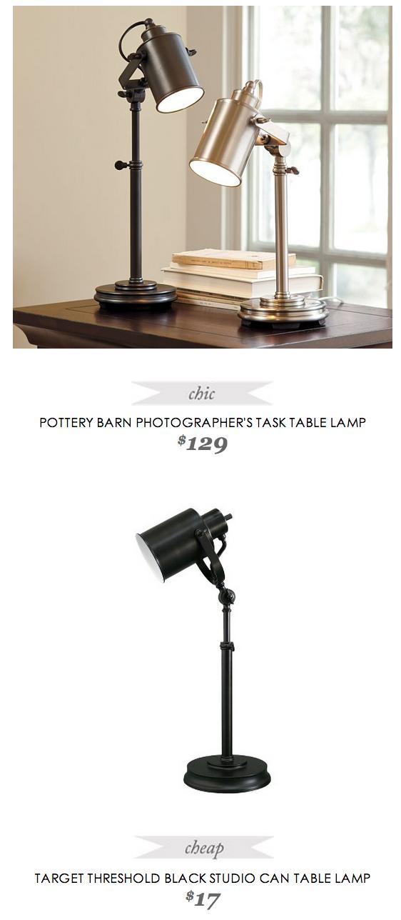 Pottery Barn Photographer S Task Table Lamp Copycatchic Table Lamp Lamp Home Lighting Design