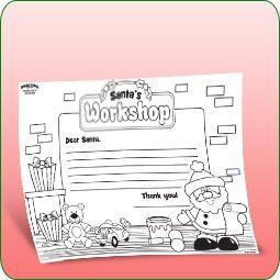 Free Printable - Letter to Santa's Workshop