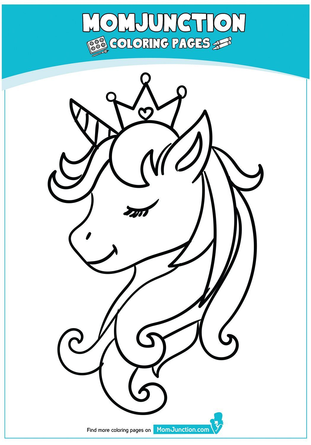 Unicorn Head Coloring Page Youngandtae Com In 2020 Unicorn Coloring Pages Coloring Pages Disney Coloring Pages