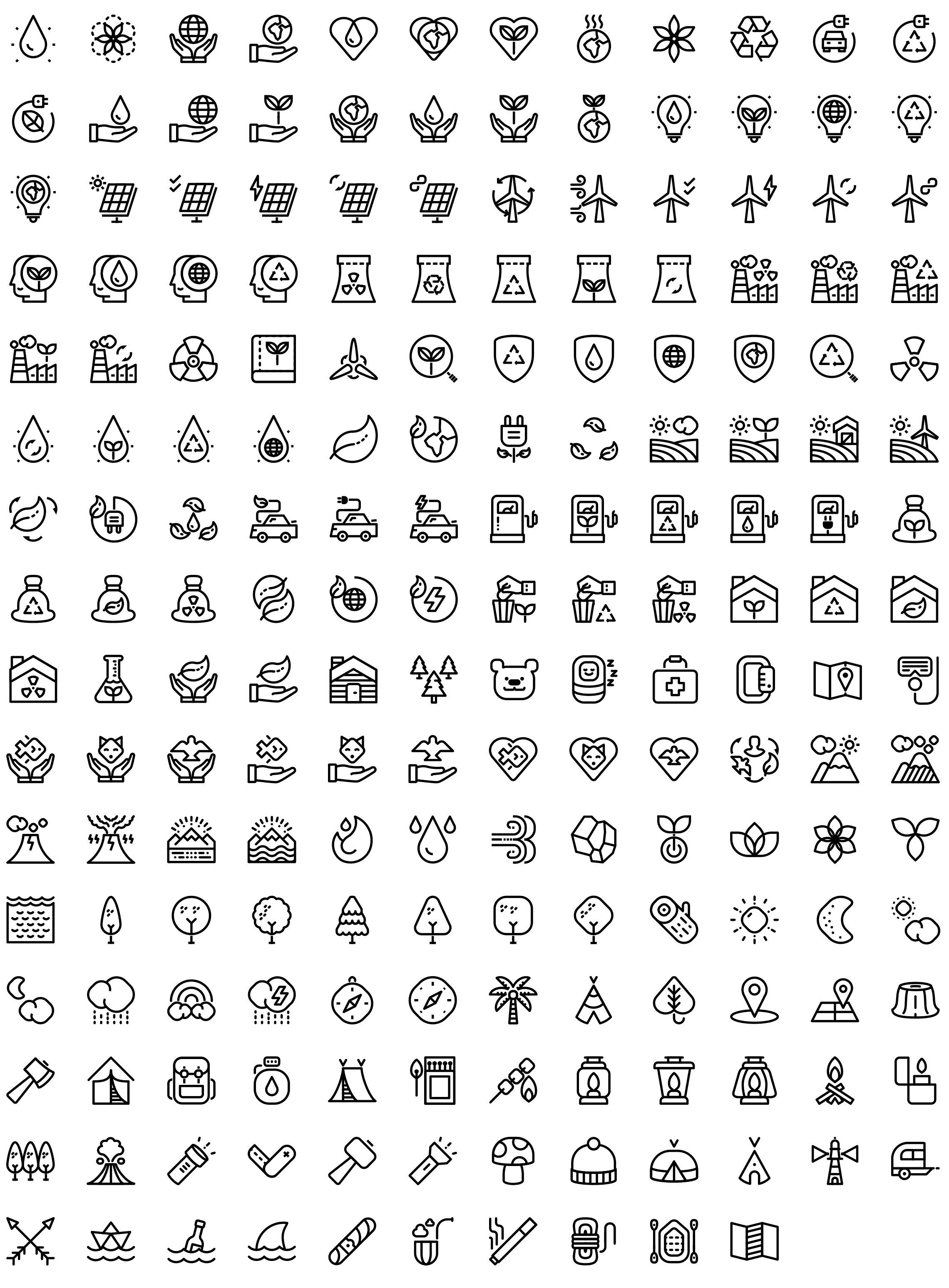 7,000 Native line icons pack Round Icons Premium in 2020