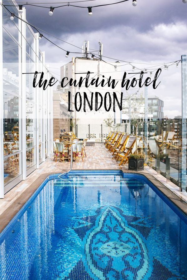 Poolside Dining At The Curtain Hotel London London Hotels
