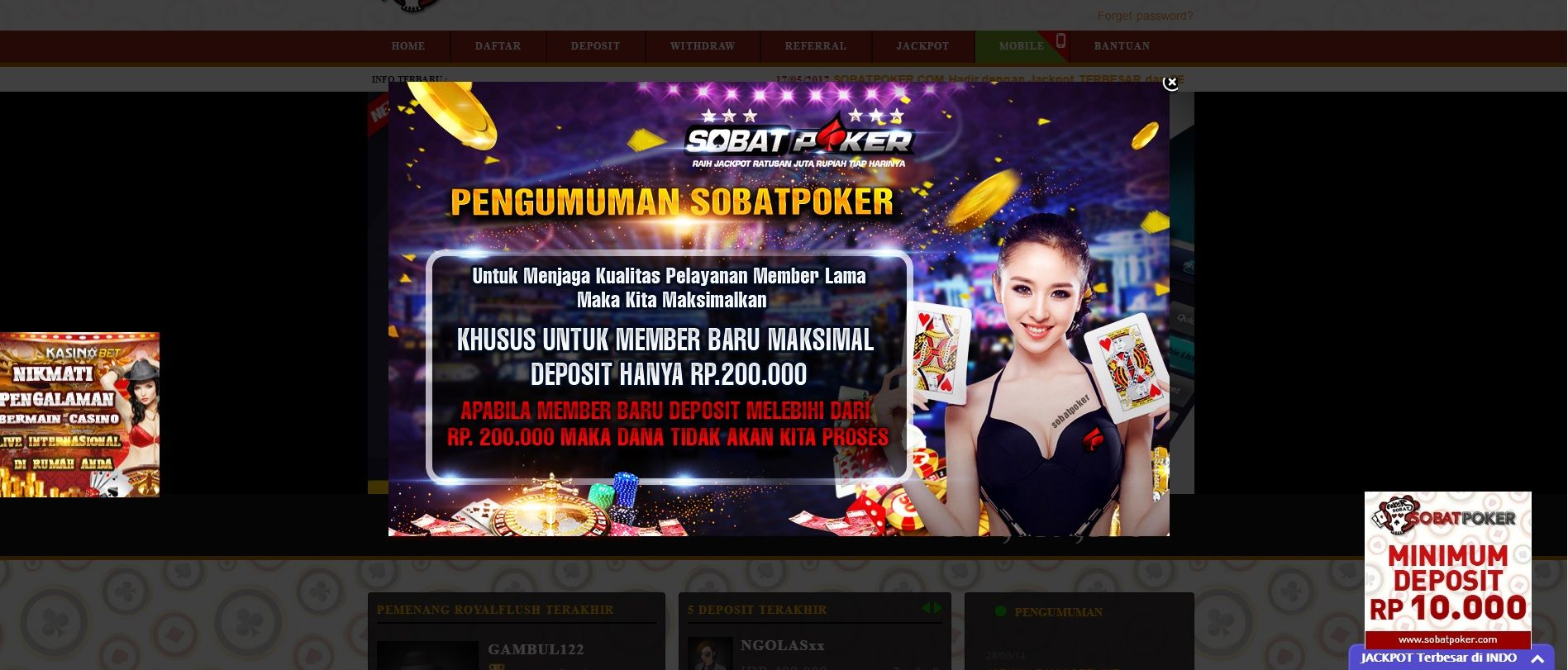 Sobat Poker agen DEWA POKER88 Situs Judi Poker online