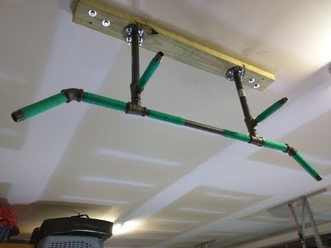 Diy 4 Position Ceiling Mounted Pull Up, Pull Up Bar Garage Ceiling