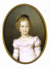 Marie Caroline (1801 - 1832). Daughter of Francis I and Maria Theresa of Naples and Sicily.She married Frederick Augustus, Crown Prince of Saxony.