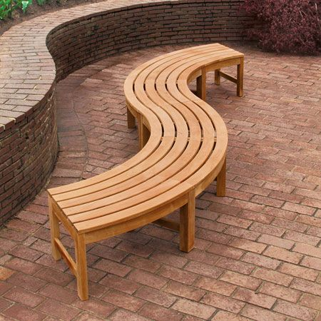 Teak Curved Bench Teak Backless Bench Curved Backless Teak Garden Benches Country Casual Teak Garden Bench Curved Bench Wooden Bench Outdoor
