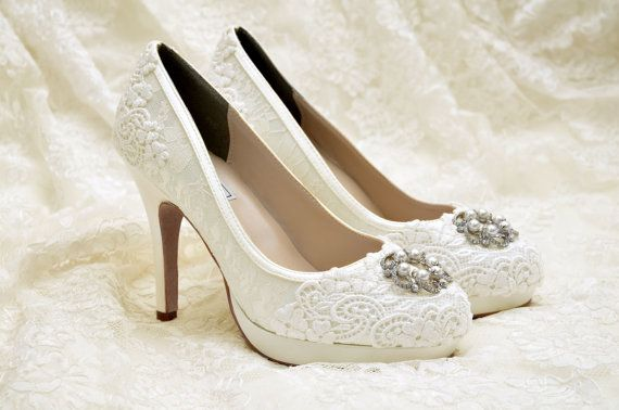 3b98add6d0ca4 Wedding Shoes Lace Covered Bridal Shoes Womens Wedding Shoes Wedding ...
