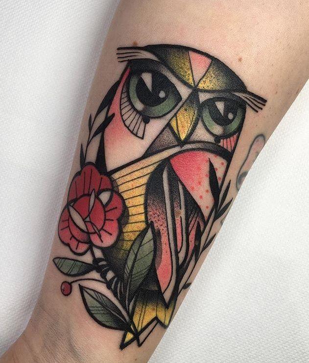 Marlen Mckay owl tattoo
