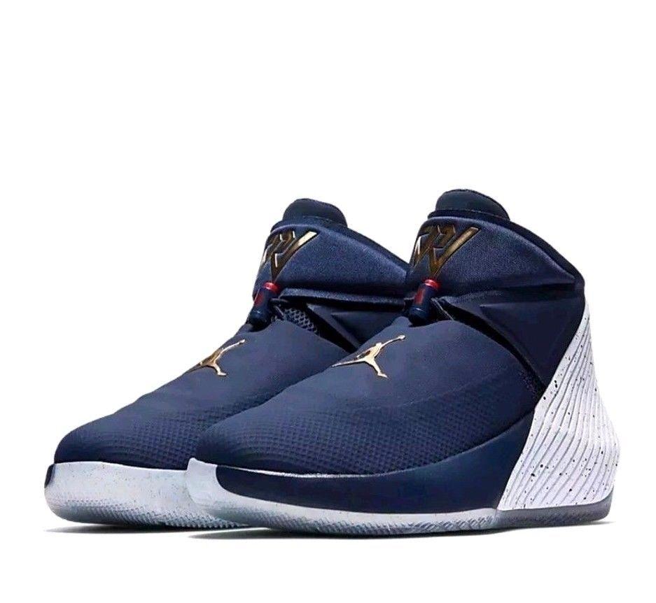 Jordan Why Not Zero 1 Mens Basketball Shoes 14 Midnight Navy Gold