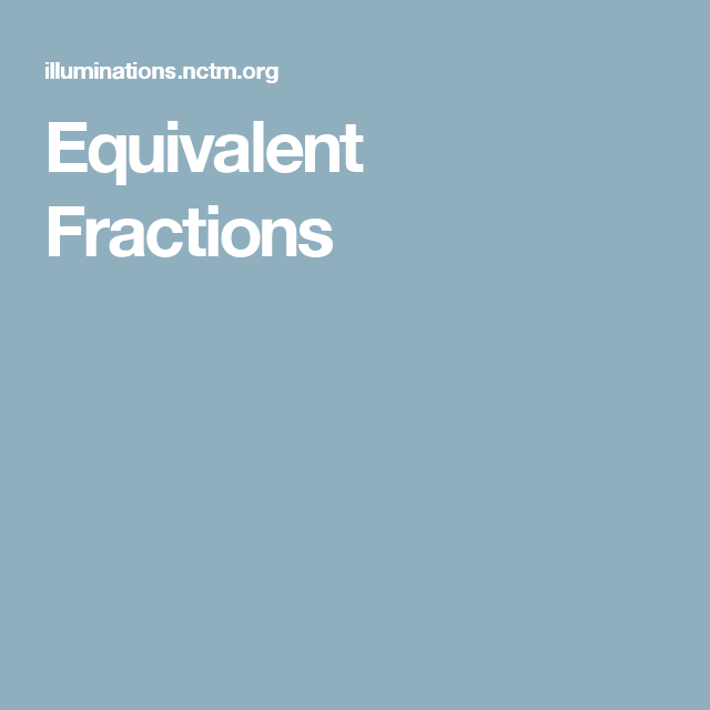 Equivalent Fractions | Teaching | Resources & Tools | Pinterest
