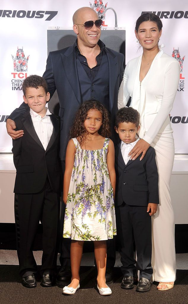 See Vin Diesel And His Family At His Handprint Ceremony Black Celebrity Couples Celebrity Kids Celebrity Families