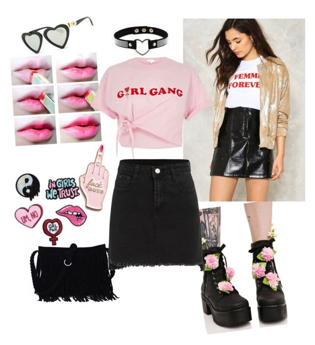 """grrrl power"" by tdmonty on Polyvore featuring Sugarbaby, Nasty Gal, River Island and Skinnydip"