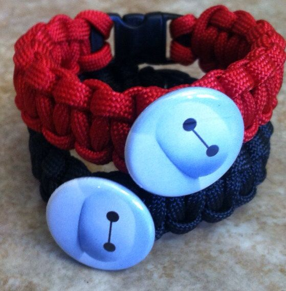 Big Hero 6  Baymax  Paracord Bracelet by ParacordTeamProducts