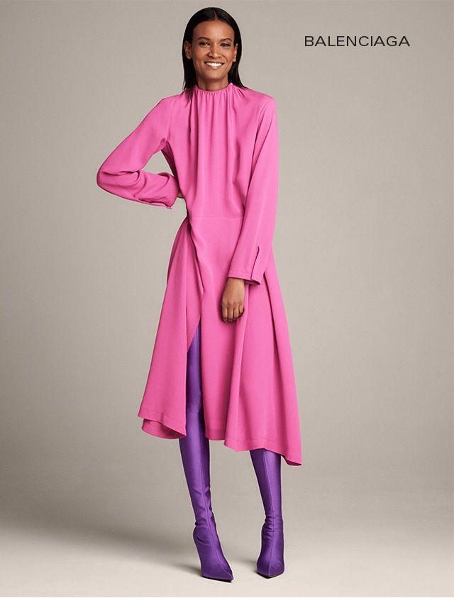 Resultado de imagen de color block ultraviolet and fuschia dress