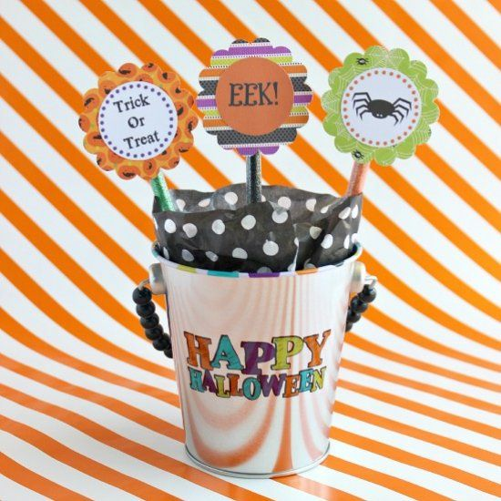 Free Printable Halloween Pencil Toppers Just print and punch for - halloween decoration printables