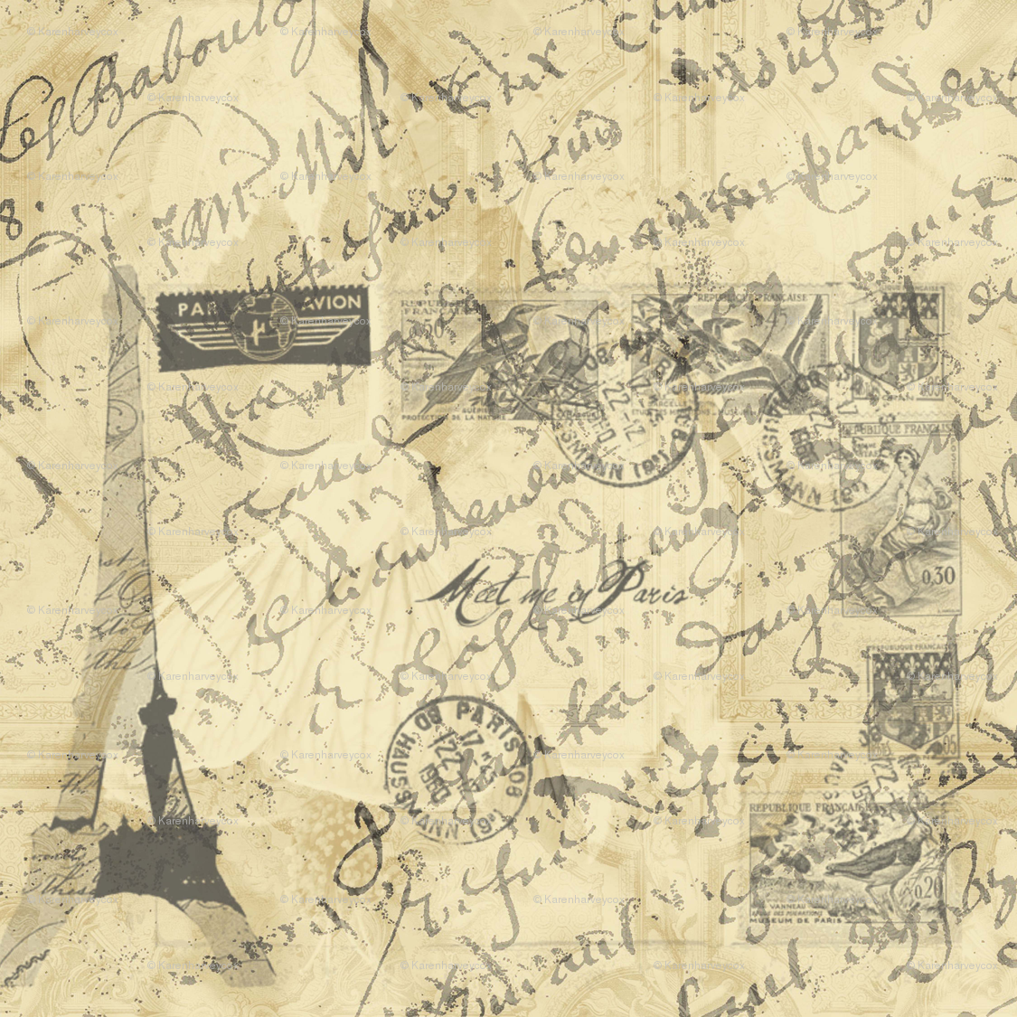 wall paper french country writing - Google Search | wallpaper ...