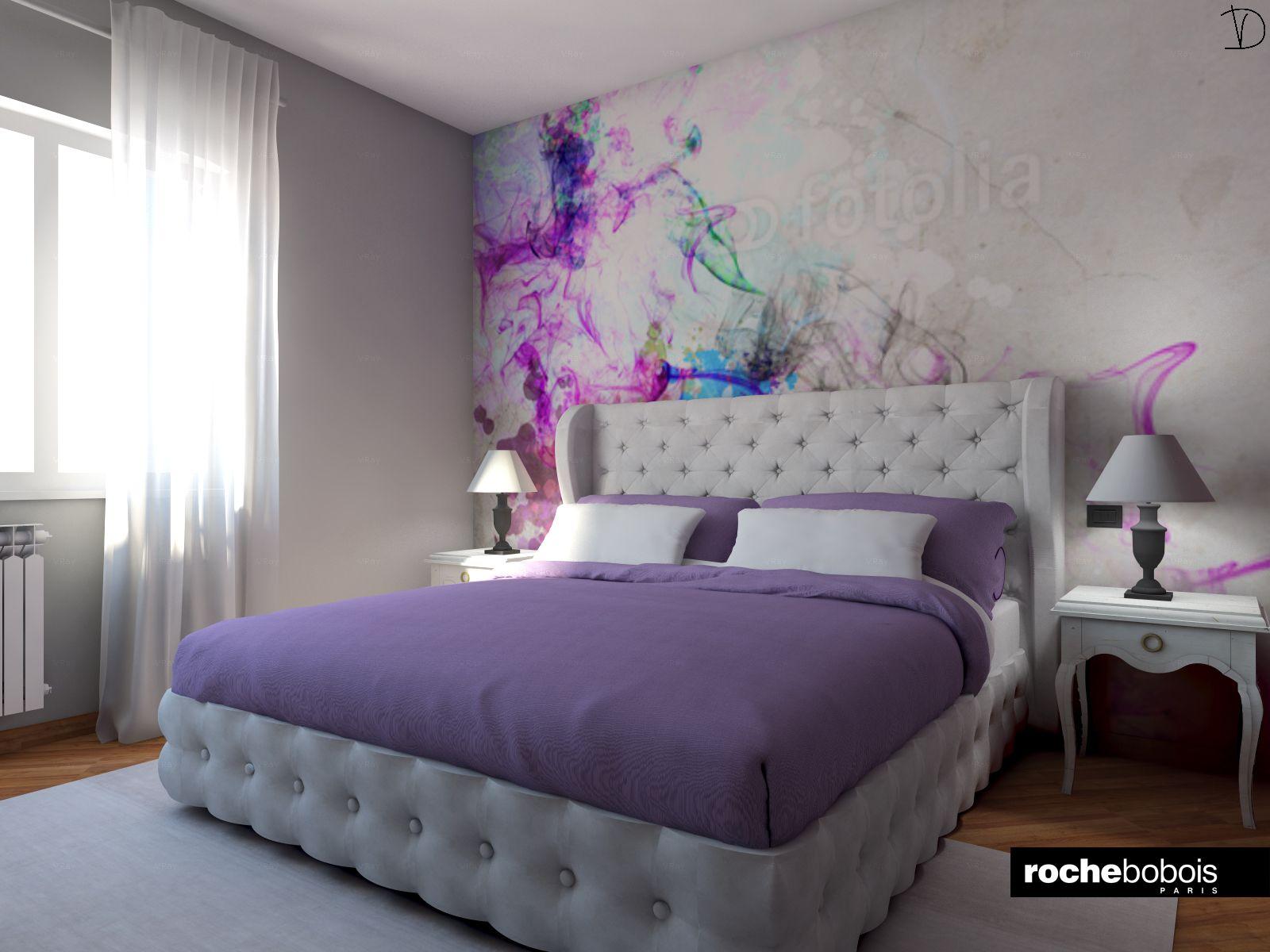Camera matrimoniale con letto maestro in pelle bianca - Camere da letto in pelle ...