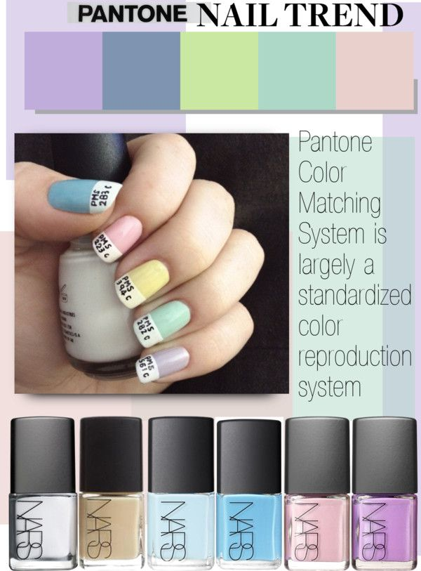 """""""Pantone Nails"""" by cutandpaste ❤ liked on Polyvore"""