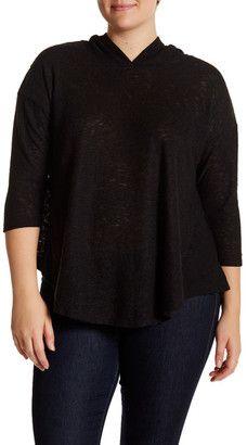 Shop Now - >  https://api.shopstyle.com/action/apiVisitRetailer?id=541330213&pid=uid6996-25233114-59 Bobeau 3/4 Length Sleeve Hoodie (Plus Size)  ...