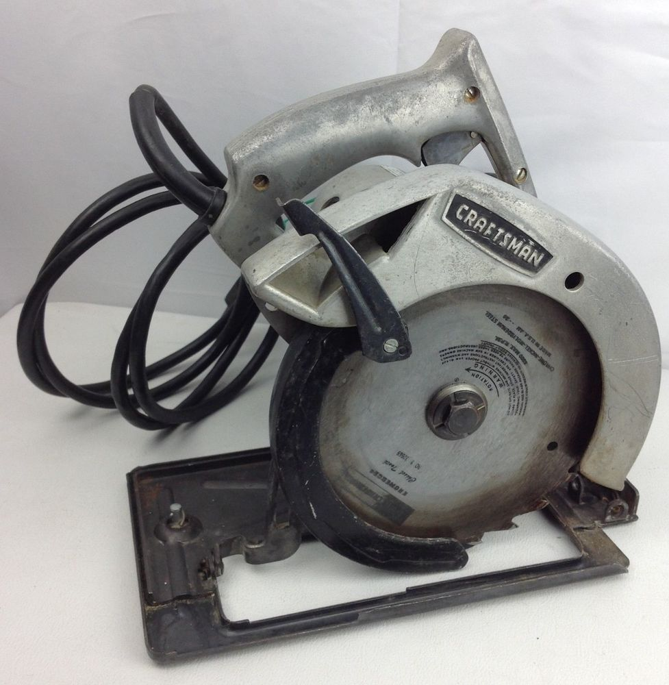 Vintage Sears Craftsman 7 Circular Saw 315 27802 Electric Hand Saw Works Craftsman Sears Craftsman Hand Saw Craftsman Power Tools