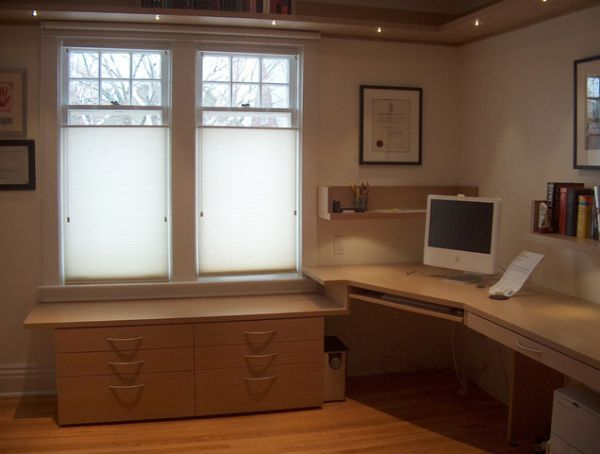 custom corner office - Custom Home Office Designs