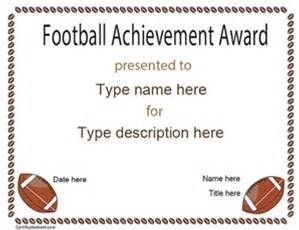 free printable football certificate templates bing images
