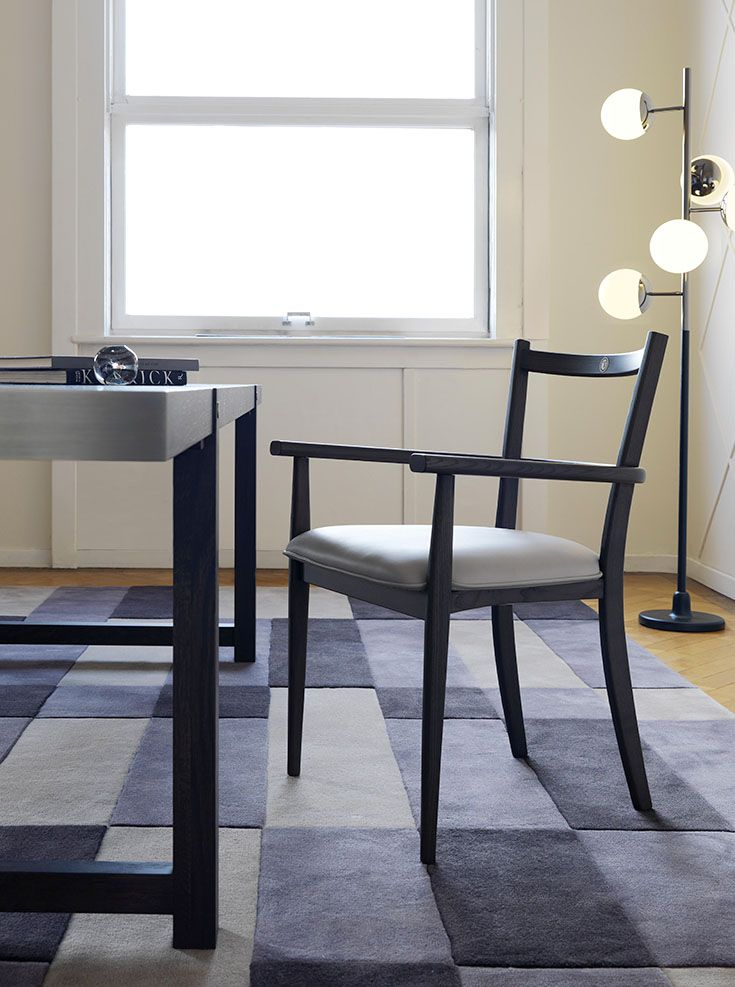 Trussardi Casa - T-Table dining table, Agnese chairs, Field rug and