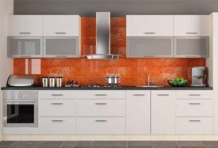 Küchenzeile Küchenblock Korpus jersey / Front weiss Hochglanz 340 cm - Küchen Weiß Hochglanz