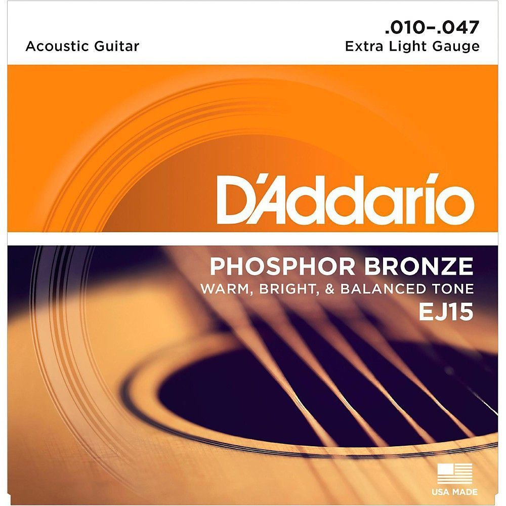 D Addario Ej15 Phosphor Bronze Extra Light Acoustic Strings Single Pack In 2020 Acoustic Guitar D Addario Acoustic Guitar Strings