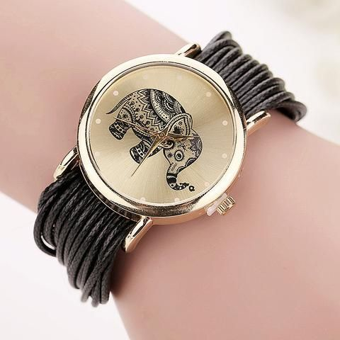 New Women Leather Bracelet Watches Fashion Casual Elephant Wrist Relojes Mujer Relogio Feminino Clock Bw1687 At Hespirides Gifts For Only 10 99