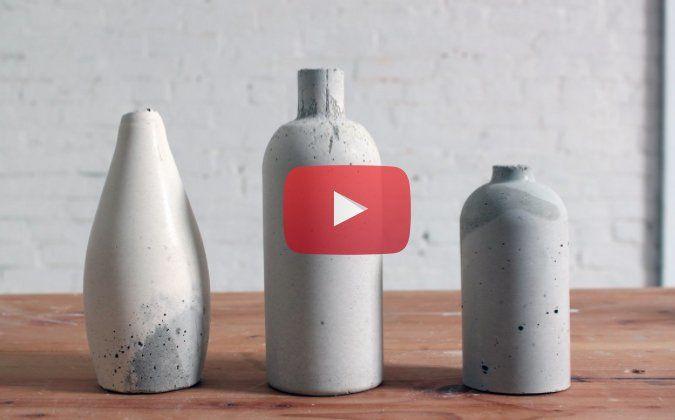 Tolle Vasen aus Beton