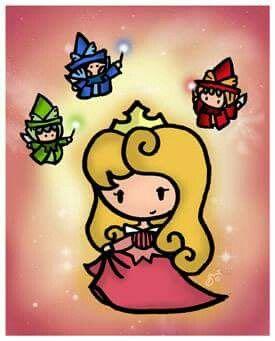 Aurora and the three fairies