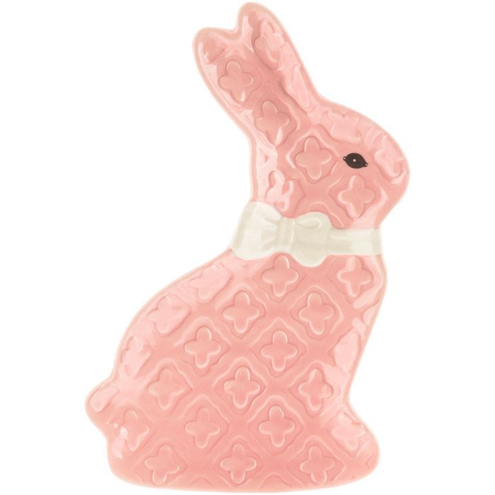 Get Pink Textured Ceramic Bunny Plate online or find other Decorations products from HobbyLobby.com