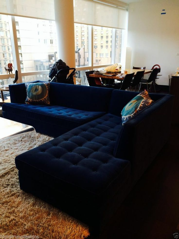 21 Different Style To Decorate Home With Blue Velvet Sofa Sofa Home Living Room Sofa Sofa Design