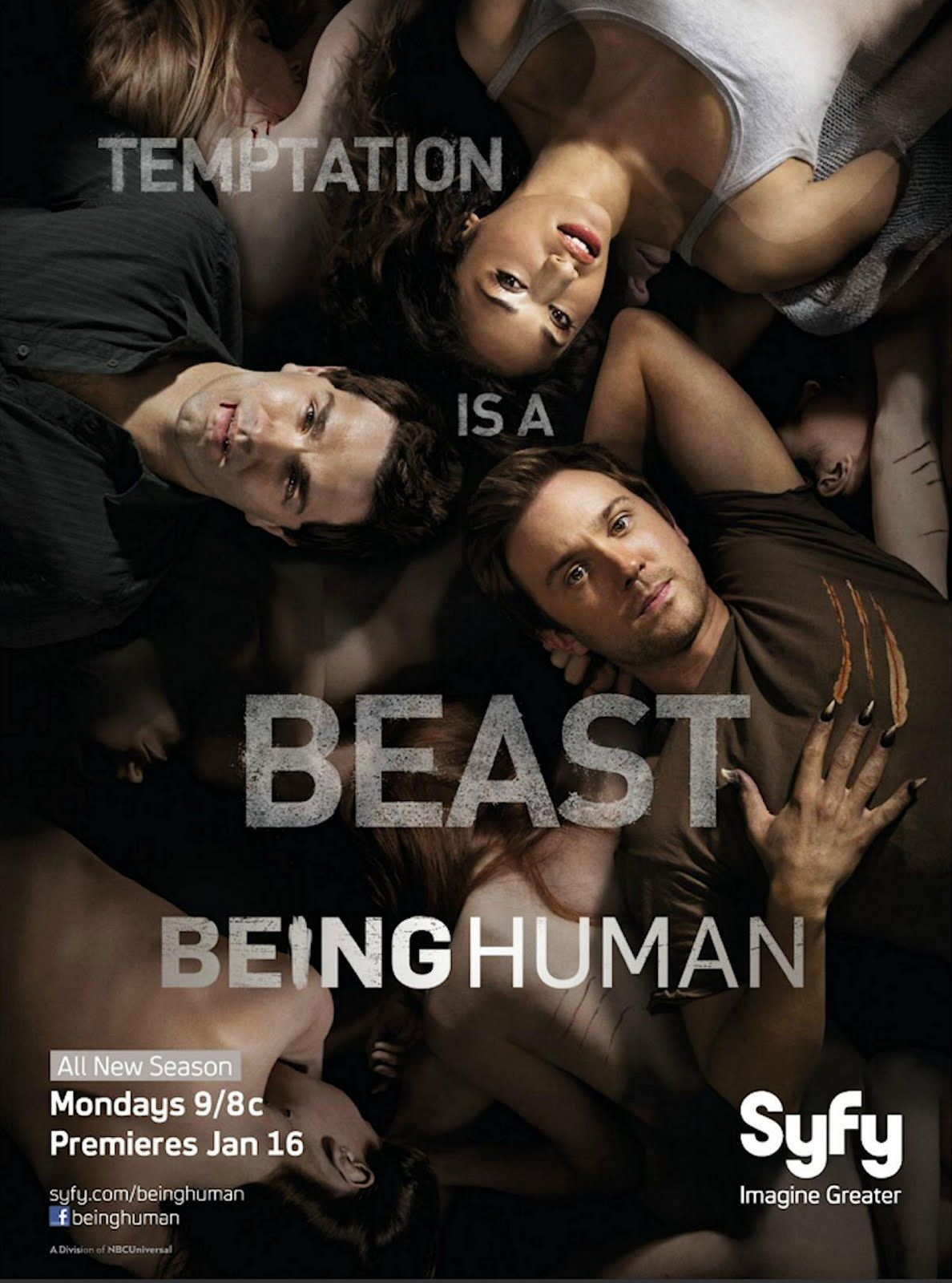Being Human, 9pm, Syfy. This American remake of a popular Brit show, is better than the original (for once), and definitely better looking. Obviously, I HAD to watch this show; Vampires, Werewolves, and Ghosts, Oh, My! Admittedly, Season 2 has been a little all over the place, but I still like this show a lot. Sam Hungtington is adorable as a werewolf w/ a heart of gold, and I think he carries the show.